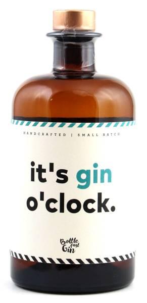it's gin o'clock - Flaschenpost Gin 0,5l
