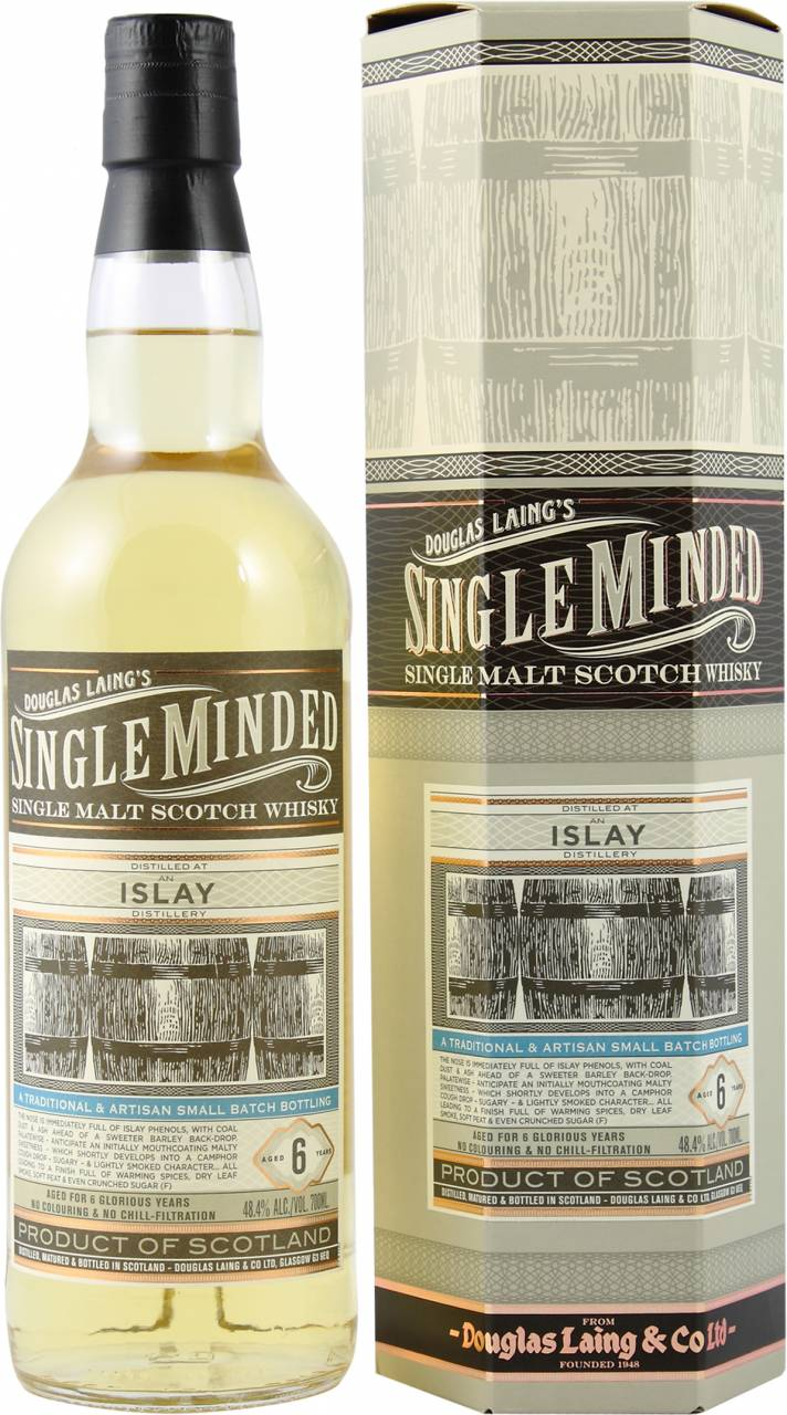 Douglas Laing´s Single Minded Islay 6 Jahre 0,7...
