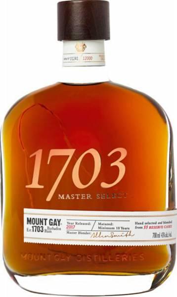 Mount Gay 1703 Master Select 43% 0,7 Liter