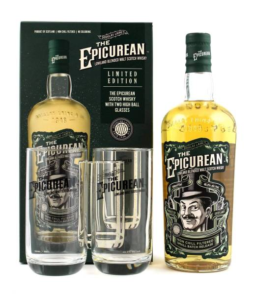 The Epicurean Whisky Set + 2 Gläser 0,7l