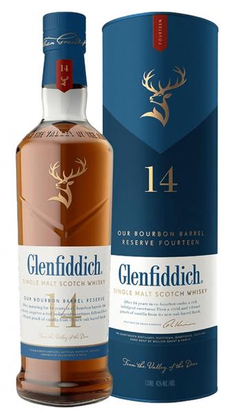 Glenfiddich 14 Jahre - Bourbon Barrel Reserve 0,7 Liter