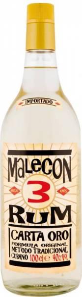 Malecon Rum Carta Oro 3 Jahre 1 Liter