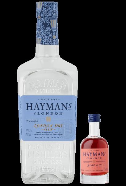 Hayman´s Paket - London Dry Gin 0,7 l + London Sloe Dry Gin 0,05 l