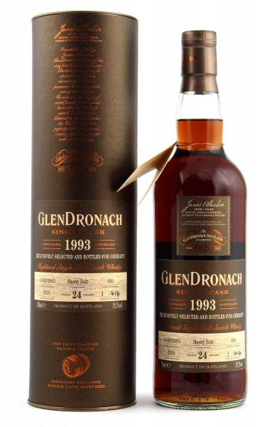 GlenDronach 24 Jahre 1993 Cask #660 Sherry Butt Flasche Nr.1 0,7l