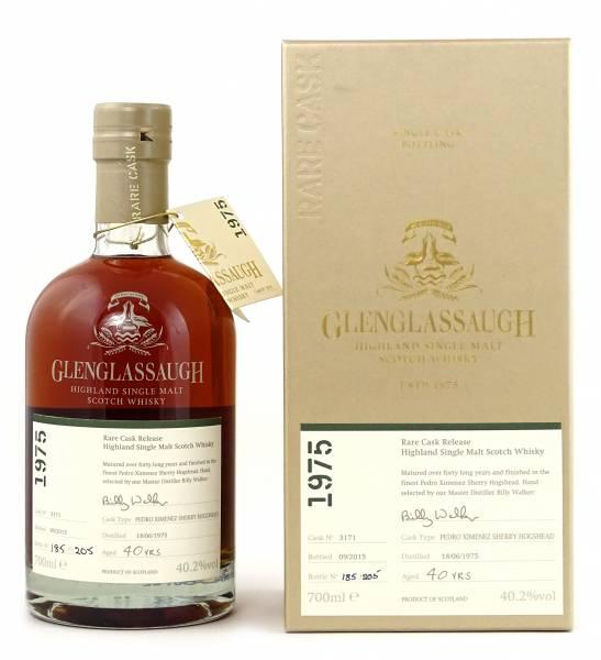 Glenglassaugh 40 Jahre 1975 #3171 Rare Cask 0,7 Liter