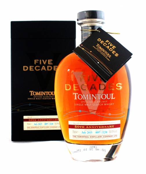 Tomintoul Five Decades 50th Anniversary 0,7 Liter