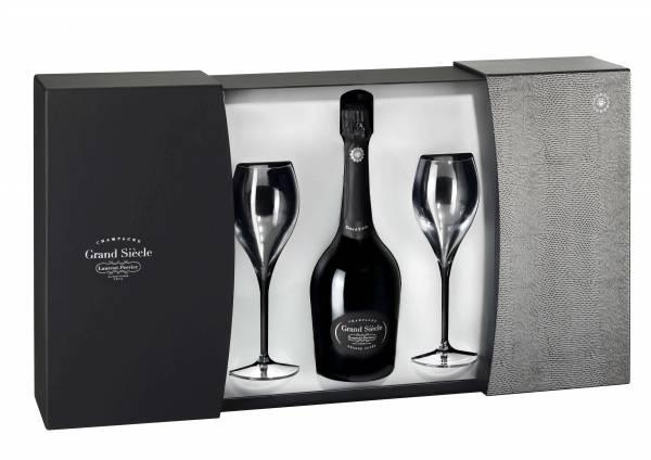 Laurent-Perrier Cuvée Grand Siècle Geschenkverpackung mit 2 Gläser 0,75l
