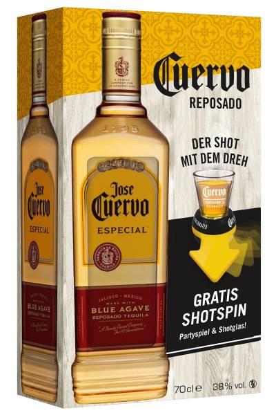 Jose Cuervo Especial Gold Reposado Geschenkset 0,7l