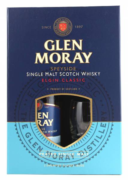 Glen Moray Elgin Classic Peated + 2 Gläser 0,7l