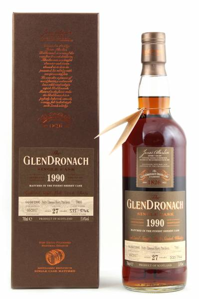 GlenDronach 1990 #7005 27 Jahre Batch 15 0,7l