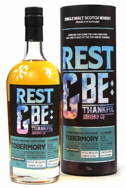 Tobermory 20 Jahre 1995 Bourbon #1076 Rest & Be 0,7 Liter