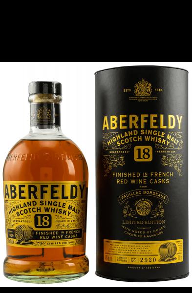 Aberfeldy 18 Jahre - Pauillac Wine Cask - Limited Edition 0,7 Liter