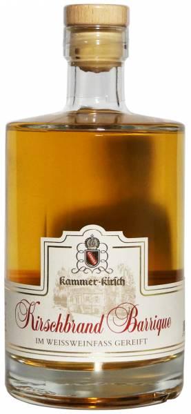 Kammer-Kirschbrand Barrique Weissweinfass-Reifung 0,5 Liter