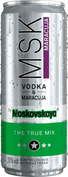 MSK Vodka & Maracuja 0,33l - Dose inkl. Pfand - 12er Pack