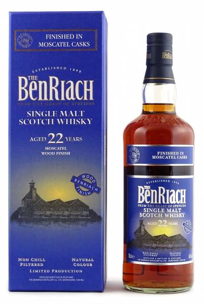 BenRiach 22 Jahre Moscatel Wood Finish 0,7 Liter