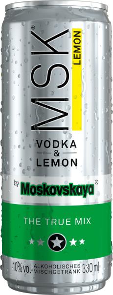 MSK Vodka & Lemon 0,33l - Dose inkl. Pfand - 4er Pack