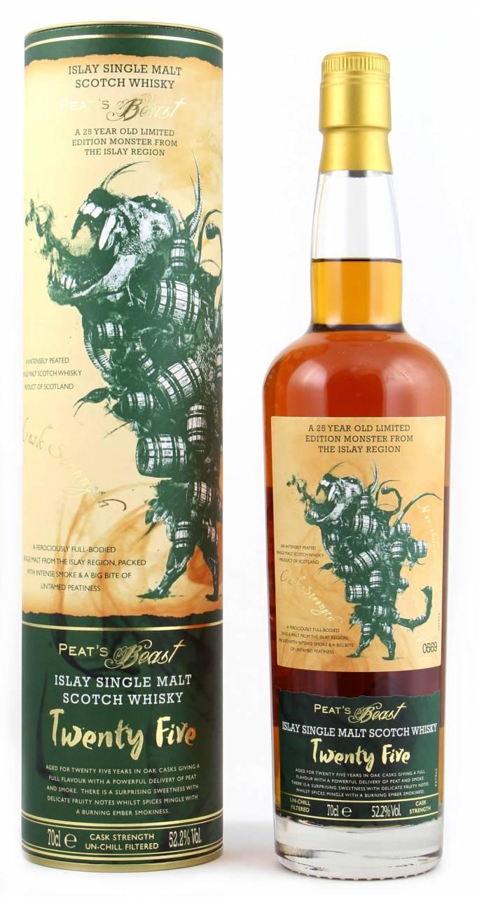 Peat´s Beast 25 Jahre Whisky CS 52,2% 0,7l