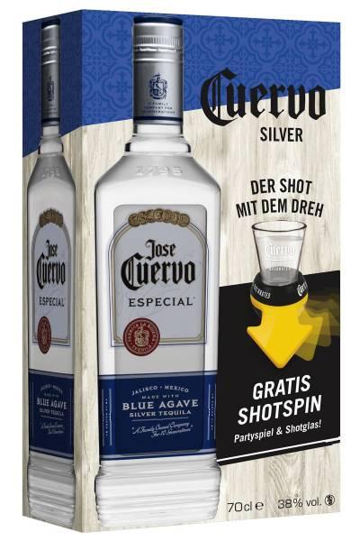 Jose Cuervo Silver Tequila Geschenkset 0,7l