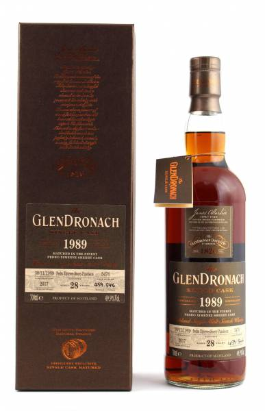 GlenDronach 1989 #5476 28 Jahre Batch 16 0,7l