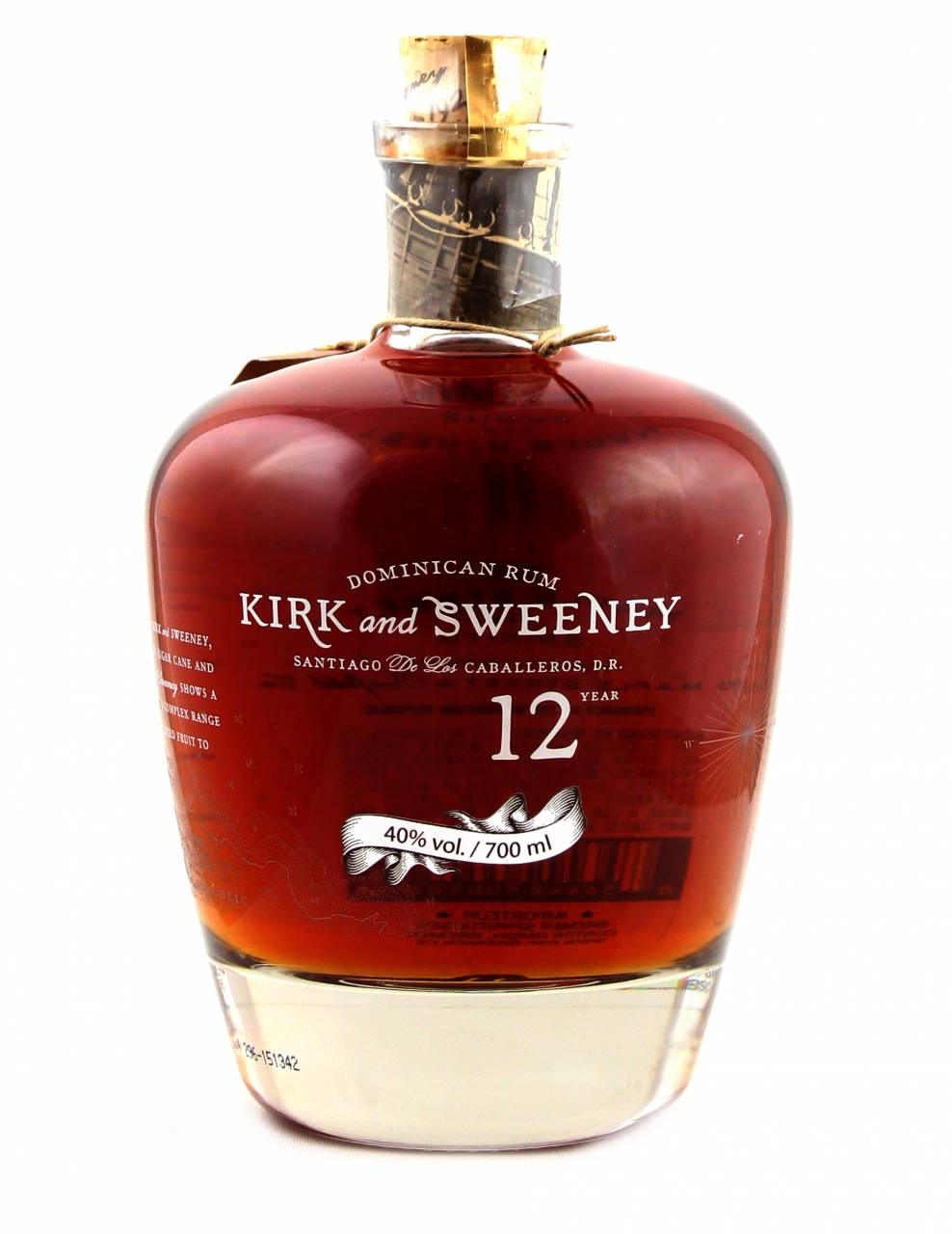 Kirk and Sweeney 12 Jahre Dominican Rum 0,7 Liter