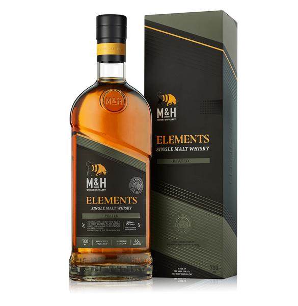 M&H Elements Peated Single Malt Whisky 0,7 Liter