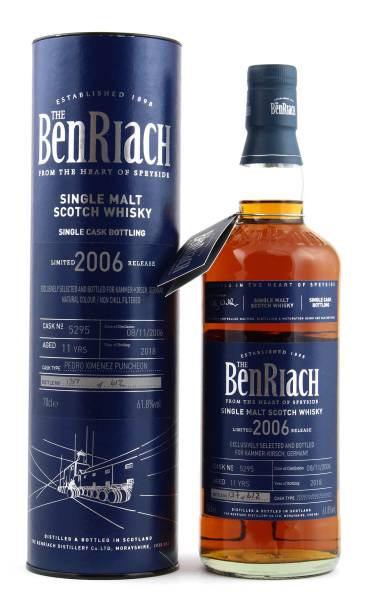 BenRiach 11 Jahre PX Puncheon 2006 Cask #5295 0,7l