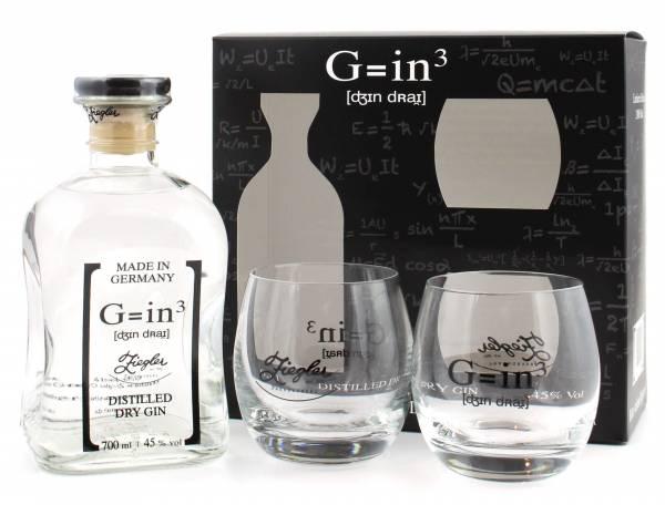 Ziegler Gin 0,7l Geschenkset + 2 Tumbler