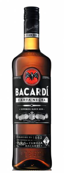 Bacardi Carta Negra 0,7 Liter