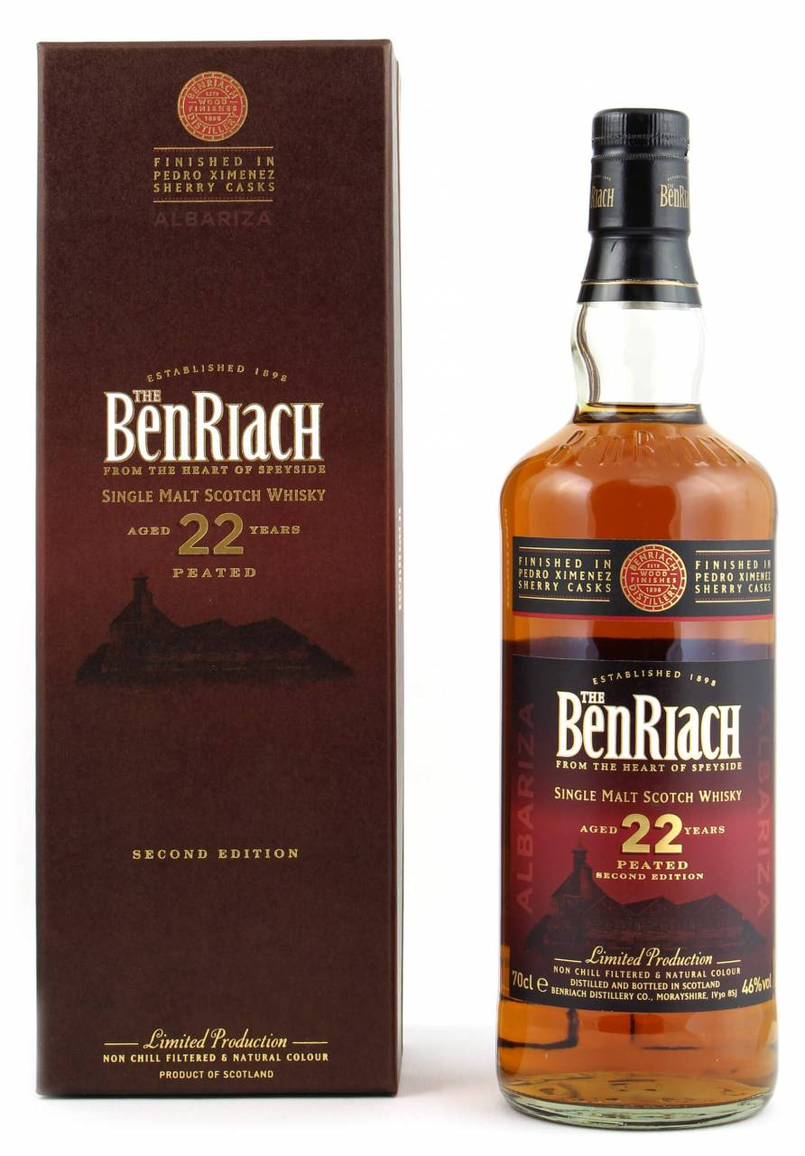 Image of BenRiach 22 Jahre Albariza Peated PX Sherry 0,7l