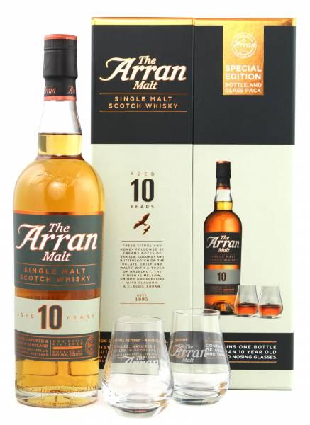 The Arran Malt 10 Jahre + 2 Gläser in GP 0,7 Liter