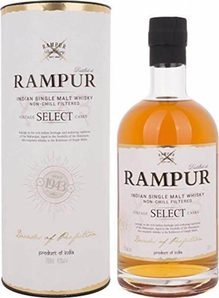 Rampur Vintage Select Casks Single Malt 0,7 Liter