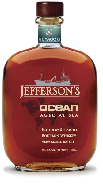 Jefferson's Ocean aged at sea Kentucky Straight Bourbon Whisky. 0,75l