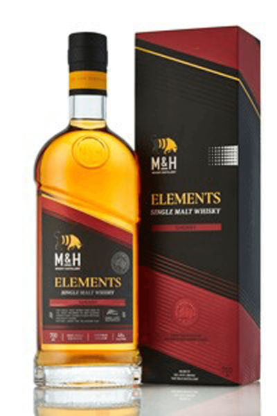 M&H Elements Sherry Single Malt Whisky 0,7 Liter