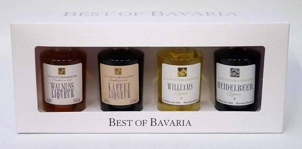 BEST OF BAVARIA - 4 Miniaturen LIQUEUR Lantenhammer 4x 0,05 Liter Miniatur-Geschenkset
