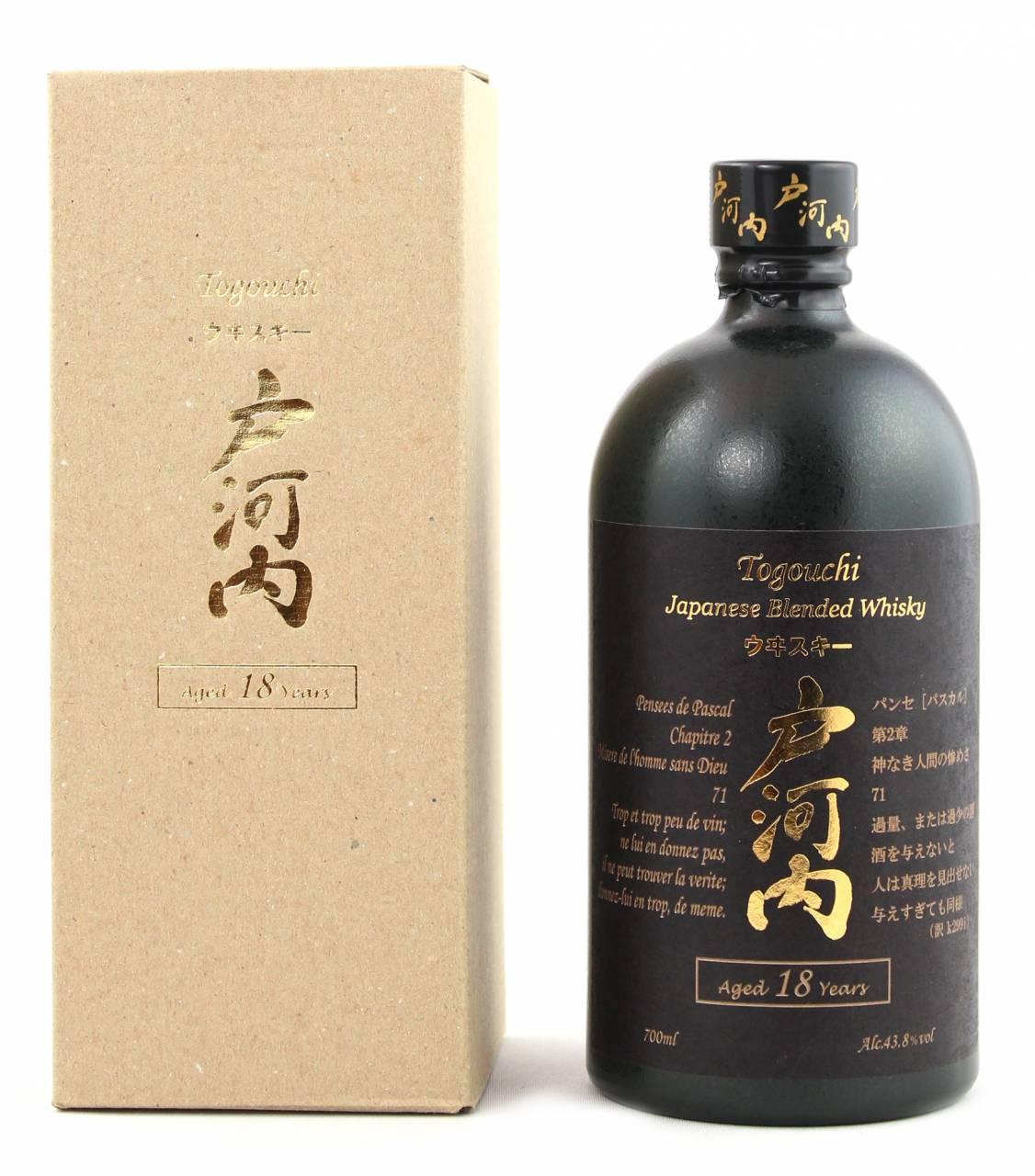 Togouchi 18 Jahre Blended Whisky 0,7 Liter