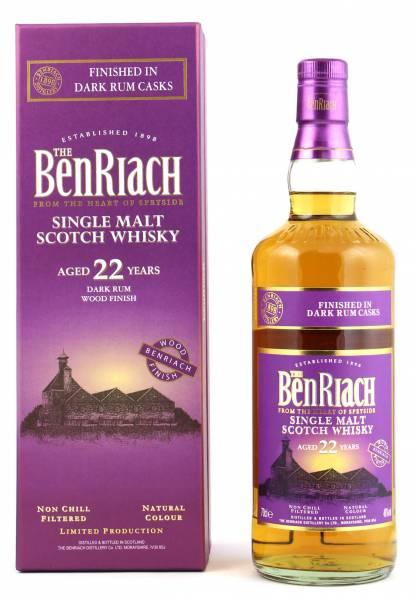 BenRiach 22 Jahre Dark Rum Cask Finish