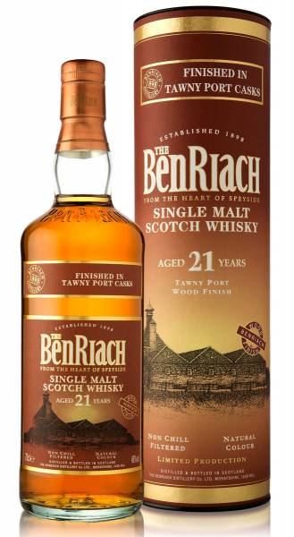 BenRiach 21 Jahre Tawny Port Finish 0,7 Liter