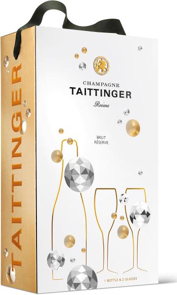 Taittinger Brut Reserve in GP mit 2 Gläsern