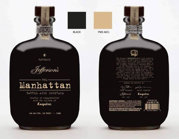 Jefferson's Manhattan Barrel Aged Whisky 0,7l