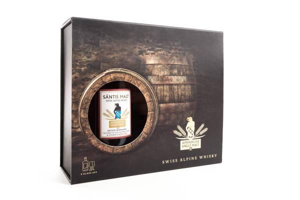 Säntis Malt Edition Himmelberg Geschenkbox mit 2 Whisky-Gläser 0,5l