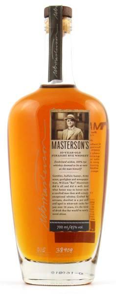 Masterson's 10 Jahre Old Straight Rye Whiskey 0,7l