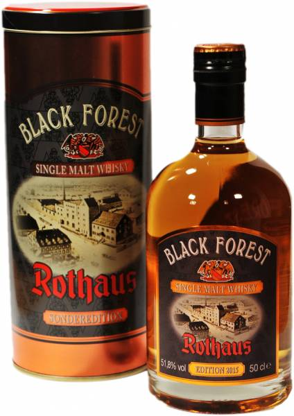 Rothaus Black Forest Whisky Dark Rum Cask Finish Edition 2015 0,5l