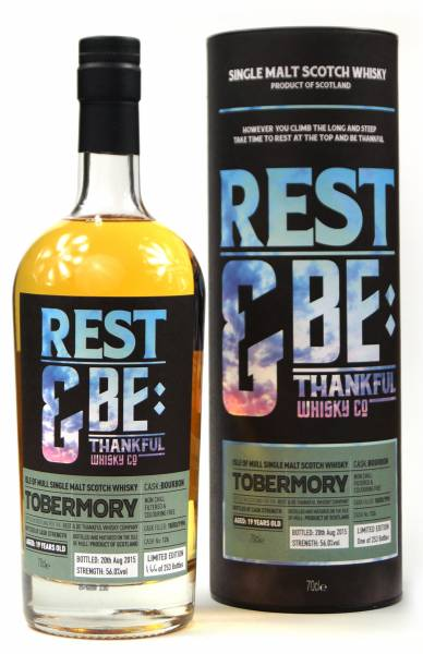 Tobermory 19 Jahre 1996 Bourbon #126 Rest & Be 0,7 Liter