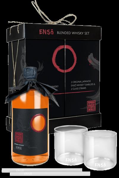 Enso Japanese Whisky mit 2 Tumblern und 2 Glashalmen 0,7 Liter