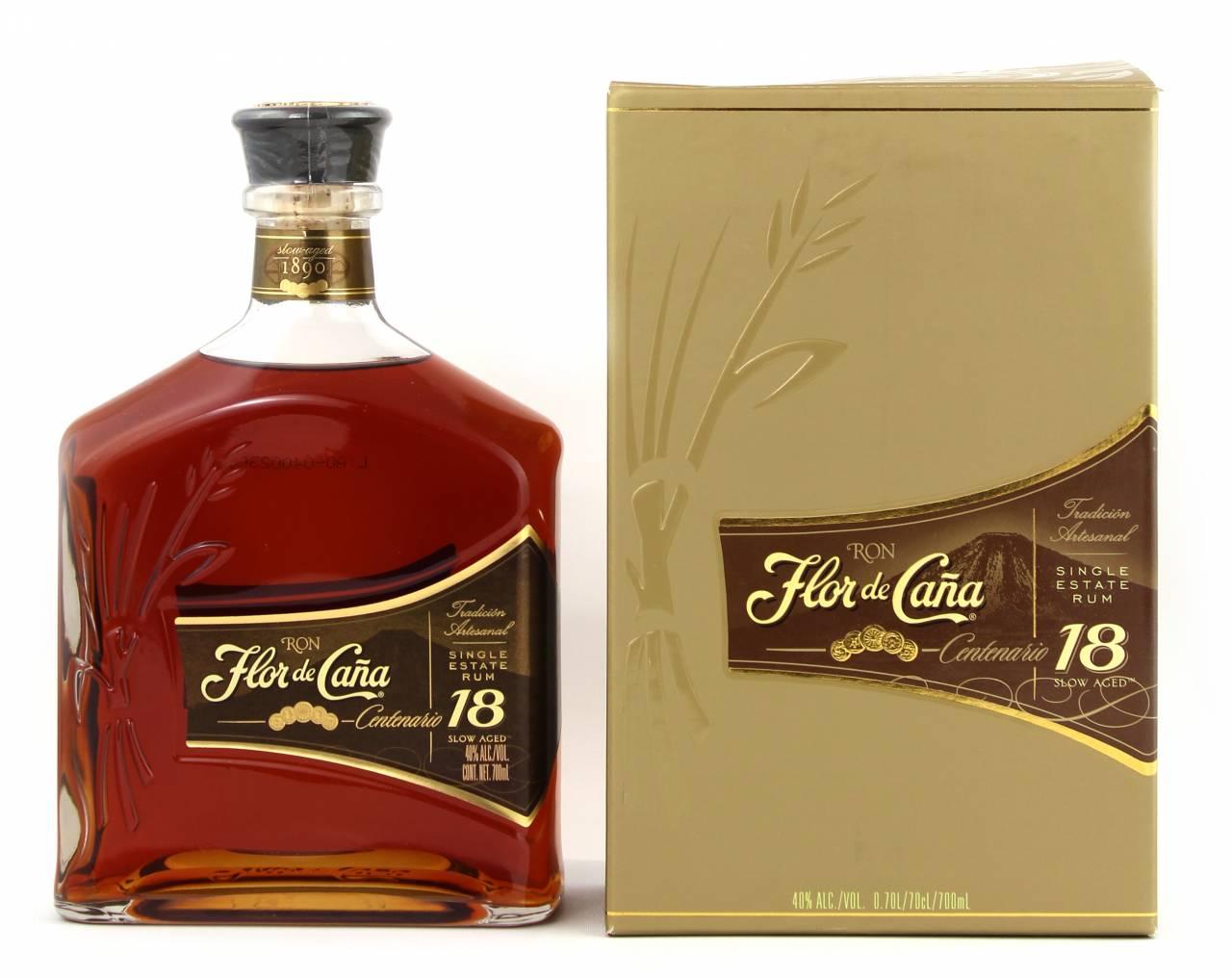 Flor de Cana Centenario Rum 18 Jahre 0,7 Liter