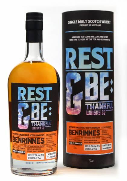 Benrinnes 19 Jahre 1995 Bourbon #9089 Rest & Be 0,7 Liter