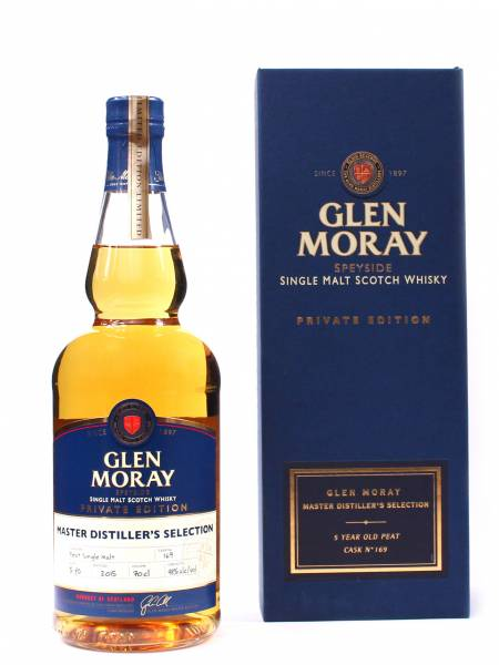 Glen Moray Peated Cask 5 Jahre Private Edition 0,7 Liter
