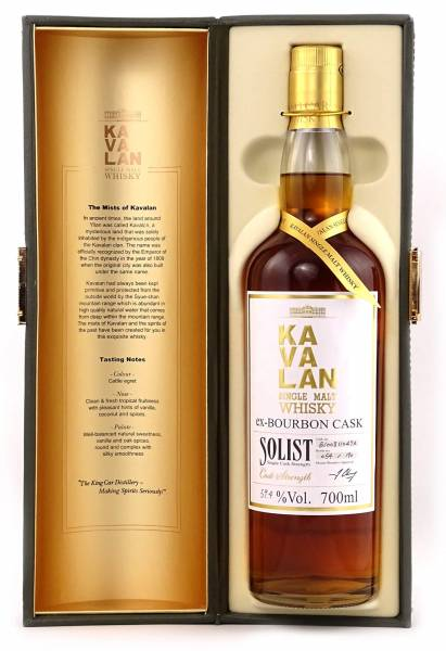 Kavalan Solist Single Cask Ex Bourbon 0,7 Liter