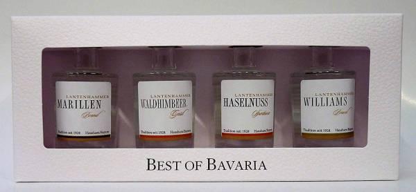 Best of Bavaria - Lantenhammer Edelbrände - 4x 0,05 Liter Miniatur-Geschenkset