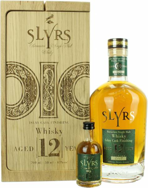 Slyrs 12 Jahre Islay Cask Finishing in der Holzkiste 43.0% 0,7l